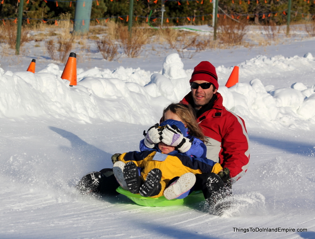 Sledding, Tubing and Snow Play in the Inland Empire
