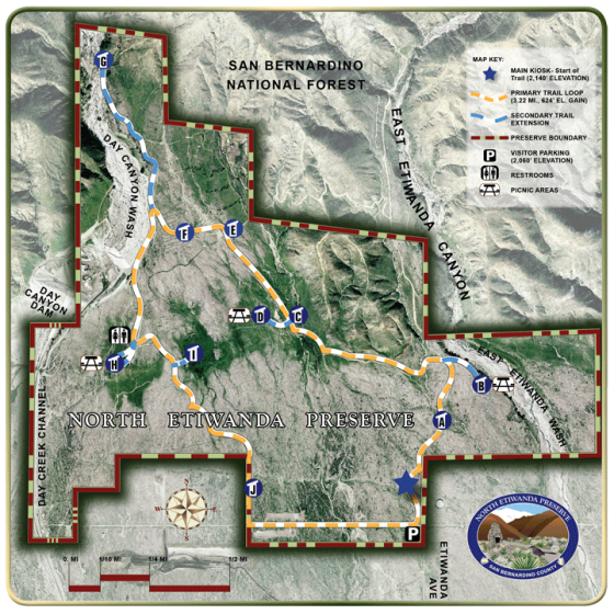 Etiwanda Falls Trail Map