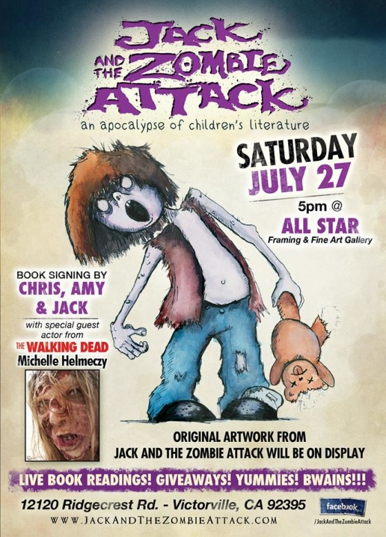jack and the zombie attack book release