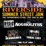 Downtown Riverside Summer Street Jam 2013 Poster