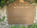 Mission Inn plaque