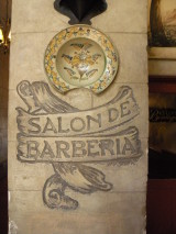 Tribute to the original barber shop (which is now Kellys spa)
