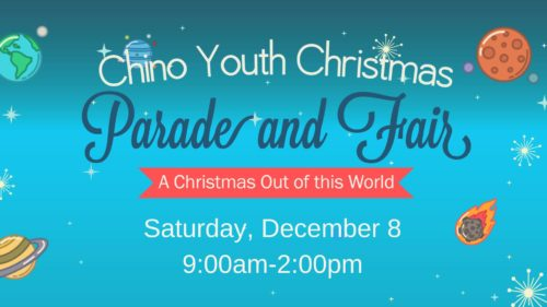 The Chino Youth Christmas Parade and Fair is a yearly event held the second Saturday of December.